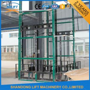 2016 Ce Vertical Guide Rail Elevators Hydraulic Warehouse Cargo Lift pictures & photos