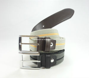 Newly-Designed Elastic Leather Belt of Metal Buckle pictures & photos