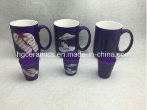 Spray Color Ceramic Mug, Rainbow Color Ceramic Mug pictures & photos
