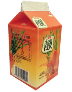 500ml Carrot Juice Carton/Gable Top Carton pictures & photos