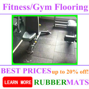 Crossfit High Density Noiseproof Rubber Gym Flooring pictures & photos