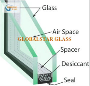 5+12A+5mm Clear Insulated Glass / Safety Glass pictures & photos