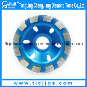 Segmented Single Row Diamond Cup Grinding Wheel for Marble pictures & photos