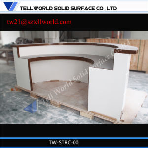 Modern Curved White Marble Semi-Circle Reception Desk Bank Reception Desk pictures & photos