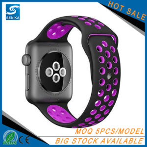 Amazon Hot Selling Sport Silicone Watch Band for Apple Watch pictures & photos