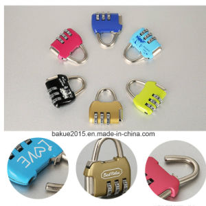 Travel Luggage Resettable Combination Padlock 3 Numbers for Password Suitcase pictures & photos