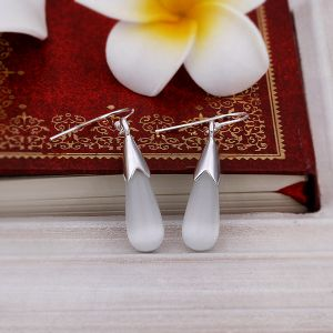925 Stealing Steel with White Opal Drop Shape Earrings The Most Popular Earrings pictures & photos
