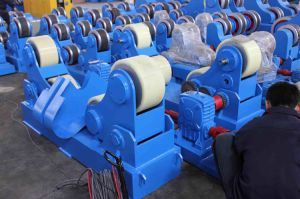 Stainless Steel Vessel Turning Roll with PU Wheel Self Aligned Welding Rotators pictures & photos