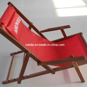 Folding Rocking Wooden Sling Deck Chair pictures & photos