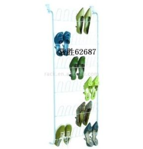 18-Pair Over The Door Metal Shoe Rack Organizer (62687) pictures & photos