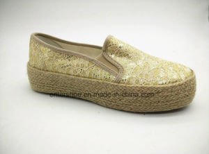 Low Cut Women Casual Shoes with Jute Side (ET-FEK160114W) pictures & photos