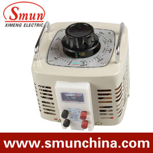 1kVA Contact Voltage Regulator Input 220VAC Single Phase Output 0~250VAC pictures & photos