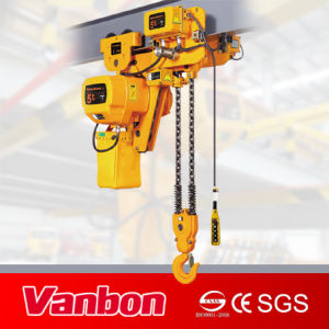 5ton Low Headroom Type Electric Chain Hoist (WBH-05002DL) pictures & photos