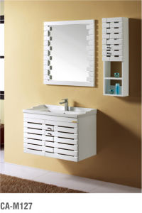 Modern Soild Wood Bathroom Furniture Cabainet with Basin pictures & photos