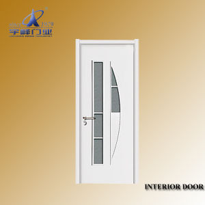 Veneer Wooden Flush Doors with Glass pictures & photos