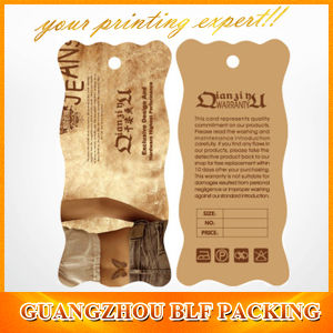 Custom Design Clothing Paper Tags pictures & photos