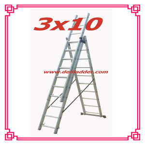 3 Section Extension Ladder 3X10 pictures & photos