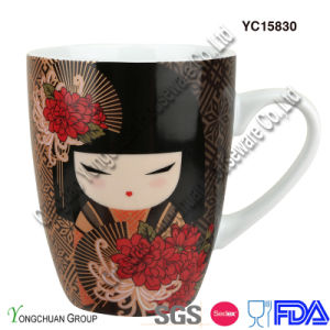 Porcelain Mug with Girl Pattern