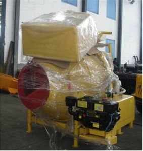 Diesel Engine Concrete Mixer With Hydraulic Tipping Hopper