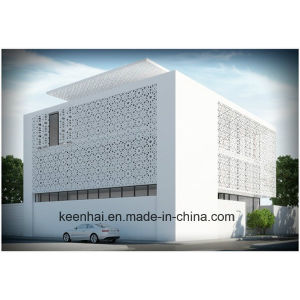 Laser Cut Perforated Decorative Aluminum Curtain Wall for Facade pictures & photos