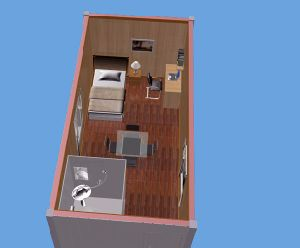 Container House Flat Pack Detachable EPS Wall Container Home pictures & photos