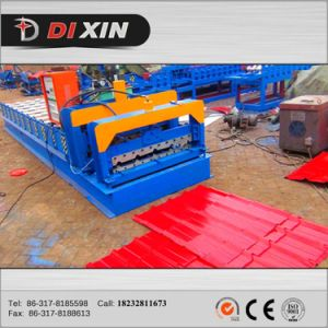 Dixin 828 Steel Tile Corrugated Roof Panel Roll Forming Machine pictures & photos