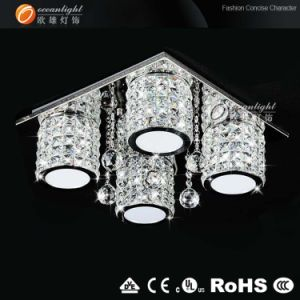 LED Modern Crystal Ceiling Lamp for Living Room, Square Ceiling Lighting (OM88149-4) pictures & photos