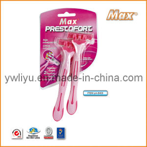 High Quality Stainless Steel Triple Blade Shaving Razor (LA-8403) pictures & photos
