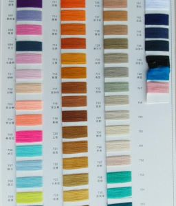 100% Ring Spun Coloured Polyester Yarn pictures & photos