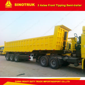 Sinotruk Strong Cargo Box 60 Tons Dump Truck Semi Trailer with High Quality pictures & photos