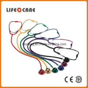 Coloured Dual Head Aluminium Alloy Chestpiece Stethoscope for Adult pictures & photos