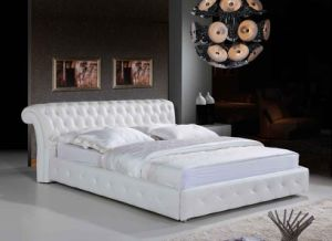 Ciff New Arrival Leather Bed with Crystal (9018) pictures & photos