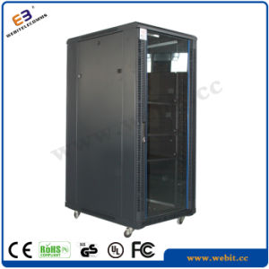 Glass Door Network Cabinet with Arc Perforated Border pictures & photos