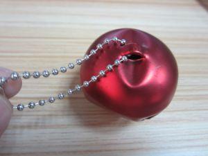Red Color Metal Christmas Jingle Bell with Ball Chain