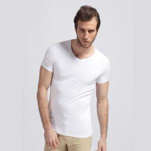 Wholesale Plain Blank Round Neck Quatity Cotton T-Shirt for Men (xy20230) pictures & photos