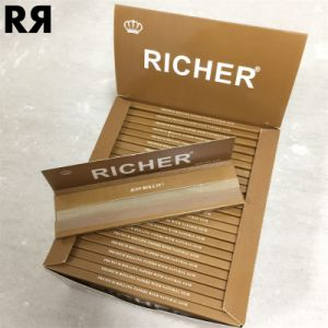 Richer 14GSM Unrefined Brown Hemp Tobacco Cigarette Rolling Paper pictures & photos