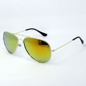 Metal Sunglasses with Gray Mirror Lenses pictures & photos