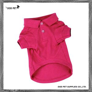 Basic Dog Polo Shirts Dog Sweatshirt with Leash Hole Spt6007-5 pictures & photos
