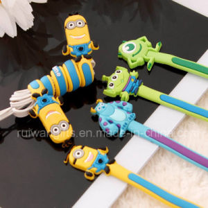 Promotional Soft PVC Silicone Earphone Cable Winder pictures & photos