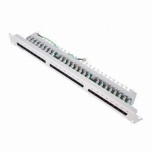UTP 24 Ports Patch Panel in Cat5e pictures & photos