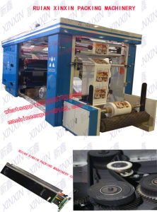 4+0, 3+1, 2+2 Timing Belt Control 4 Color Flexographic Printing Machine