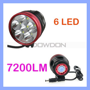 7200lm Cycling CREE Xml-T6 6LED Front Bike Headlamp Bicycle Headlight pictures & photos