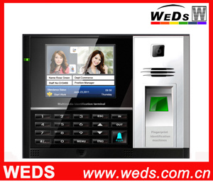 Fingerprint Time Attendance System with Backup Internal Lithium Battery