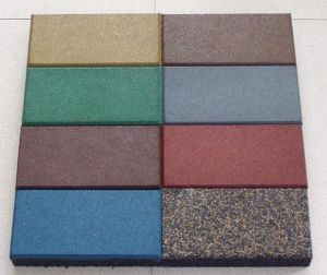 Gym/Kindergarten Used Rubber Flooring Tile pictures & photos