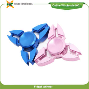 China Manufacturer Hand Spinner 2 Aluminum Toy Hand Fidget Stress Ball Toy with Gift Packing pictures & photos