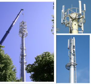 Telecommunication Microwave GSM Antenna Steel Monopole Tower pictures & photos
