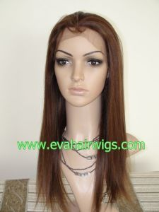 Handmade 22inch Long 130%-180% Density Human Virgin Hair Full Lace Wigs Kosher Wig pictures & photos