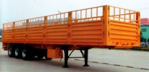 2 Axle 40 Ton Storehouse Semi Trailer / Stake Cargo Box Semi-Trailer pictures & photos