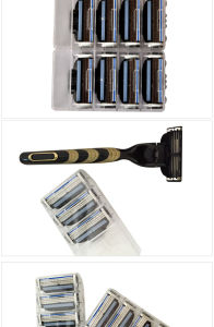 Man Shaving Razor Blades for Gillette Mach 3 pictures & photos