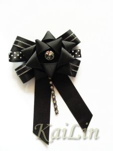 Ribbon Bow With Crystal (KLF-0072)